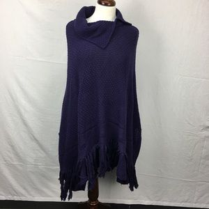 Coldwater Creek Purple Knitted Sweater Poncho